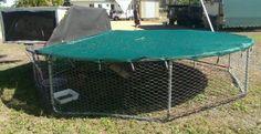Trampoline Chicken Coop Plans Easy DIY
