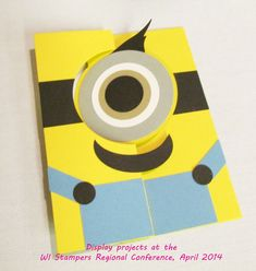 IMG_3731  Who doesn't love a minion?  complete supply list at: http://songofmyheartstampers.typepad.com/song_of_my_heart_stampers/2014/04/minion-mania.html