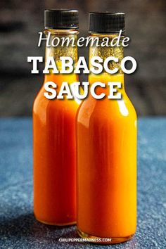 Homemade Tabasco Sauce Recipe - Learn how to make tabasco hot sauce with this homemade tabasco sauce recipe, using garden grown tabasco peppers. Fermented and non-fermented versions. Tobasco Sauce Recipe, Homemade Tabasco Sauce Recipe, Tabasco Hot Sauce, Tabasco Pepper, Hot Sauce Recipes, Hot Pepper Sauce, Hot Pepper Mix Recipe, Fermented Hot Sauce Recipe, Hot Pepper Recipes