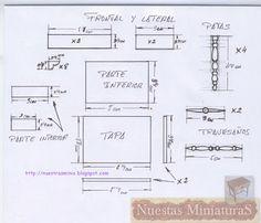 Nuestras MiniaturaS: Planos del costurero