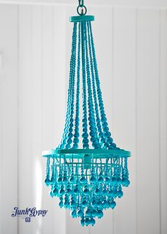 junk gypsy turquoise beaded chandelier for @pbteen