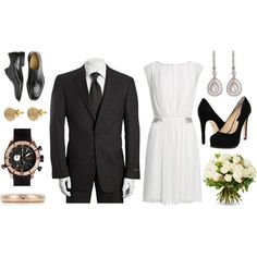 Elopement Bride & Groom.  I don't think I'd ever elope, but if I did, I'd wear this.