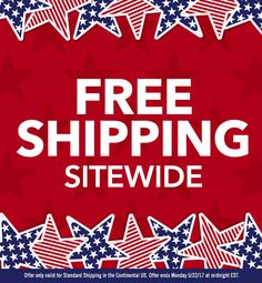 Free shipping all weekend!
