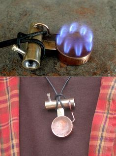 Portable Stove Necklace, in case I get trapped i can survive alil longer