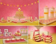 Pink and Yellow Wedding. See More at http://partymotif.com
