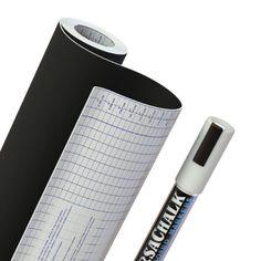 "Chalkboard Contact Paper + BONUS Chalk Marker - 18"" W x 96"" L (8 FEET) - 33% more than other brands!"