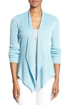 Eileen Fisher Angled Front Sweater Jacket (Regular & Petite) available at #Nordstrom