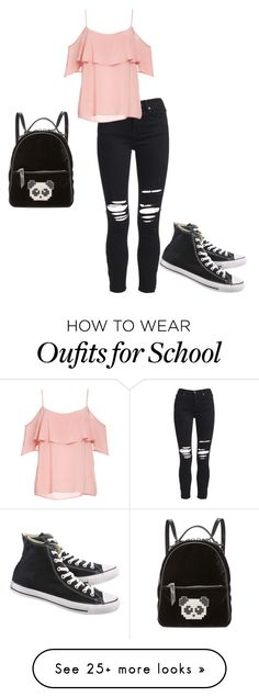 """Faith at school"" by crystalrose-014 on Polyvore featuring AMIRI, BB Dakota, Les Petits Joueurs and Converse"