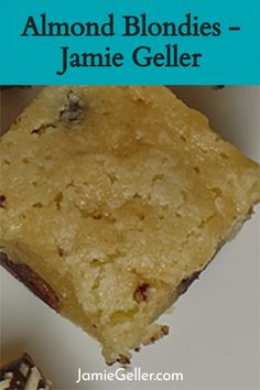 These gluten-free Almond Blondies are easy to make with only a few basic ingredients. Quick, easy, and truly delish. #glutenfree #dairyfree #blondies Passover Desserts, Brownie Pan, 5 Ingredient Recipes, Vegetarian Chocolate, Blondies, Quick Easy Meals, Cornbread, Glutenfree, Dairy Free