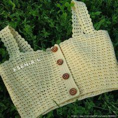 Mode Crochet, Diy Crochet, Crochet Baby, Crochet Bikini, Crochet Top, Crochet Tank Tops, Crochet Shirt, Crochet Cardigan, Crochet Designs
