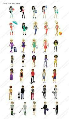 Create stylish and trendy projects with the Paper Dolls Teen Scene cartridge! This cartridge has three girl dolls and two boy dolls, and each doll has ten hairstyles and twenty outfits. The clothes and hairstyles are interchangeable for dolls of the same Cricut Cuttlebug, Cricut Cartridges, Cricut Cards, Teen Library, Provo Craft, Craft Cutter, Scrapbook Cards, Scrapbooking, Paper Dolls