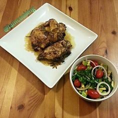 Roasted herb chicken, marinated in italian dressing