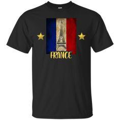 Maillot Foot France 2 Etoiles T-Shirt France World Cup 2018, France 1, Custom Shirts, Custom Design, Tees, Mens Tops, T Shirt, Custom Tailored Shirts, Supreme T Shirt