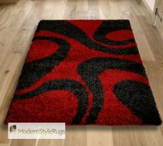 Vista 4263 Red Black Rug   Buy Online   Free UK Delivery