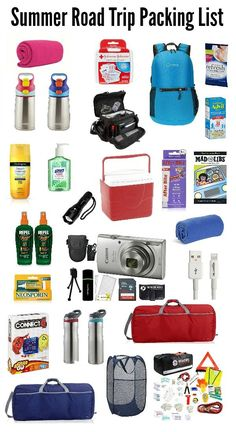 Here is the Ultimate Summer Road Trip Packing List with everything you need to enjoy your trip, avoid mishaps, and keep the whole family happy rolling on down the road! Tons of tips, suggestions and ideas to make summer traveling easier. Road Trip Checklist, Road Trip Packing List, Road Trip Hacks, Road Trip Usa, Travel Packing, Packing Tips, Beach Vacation Packing, Travel Checklist, Travel Hacks