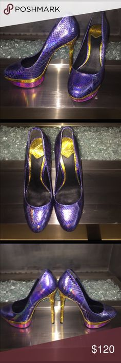 """B Brian Atwood SZ 7 NBW Sexy B Brian Atwood heels. Can be dressed up or down. Never been worn, perfect condition! Price tag stickers have been taken off the soles of the shoe. Has a 5 3/4"""" heel. B Brian Atwood Shoes Heels"""