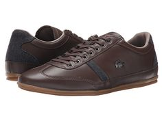 4306d4d4cbf7c5 Lacoste Misano 37 Dark Brown with Grey Herringbone Trim