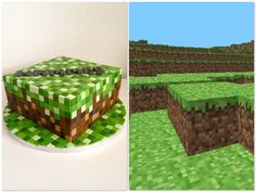 Minecraft cake - Sockersöta Ninni  #Minecraft #Game #Cake. This would take forever!