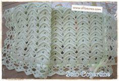 Copertina a uncinetto con onde in rilievo | Solo Copertine Crochet Bebe, Crochet Hats, Dou Dou, Manta Crochet, All Craft, Elsa, Blanket, Baby, Crafts