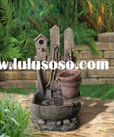 Outdoor Water Fountains Add a water feature or fountain to your landscaping