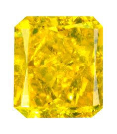 0.72 Carat Fancy Vivid Yellow Radiant Diamond