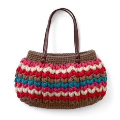 Puff stitch? bag - japanese crochet website....love this needs to be neon colors with a black bag tho :)