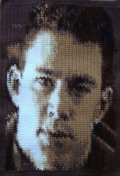 Channing Tatum Crochet Pattern - 60 rows by 76 stitches