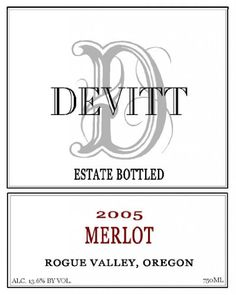 2005 Devitt Winery Merlot Rogue Valley 750 mL >>> Want additional info? Click on the image.  This link participates in Amazon Service LLC Associates Program, a program designed to let participant earn advertising fees by advertising and linking to Amazon.com.