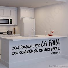 Stickers Citation, French Words, Make A Wish, Chalkboard, Restaurant, Sweet Home, Messages, Thoughts, Interior