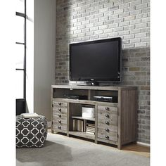 Latitude Run McCall TV Stand with Electric Fireplace & Reviews ...