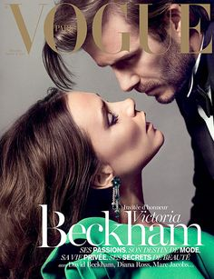 Victoria and David Beckham on the Dec/Jan. issue of Vogue Paris