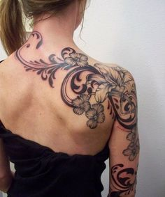 Immense Beautiful Shoulder and Arm Tattoos for Women