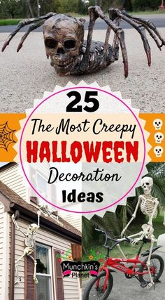 Make your house entrance the creepiest on the street with these DIY Halloween outdoor decoration ideas. Check out these Dollar Store Halloween, Cheap Halloween, Halloween House, Halloween Party, Halloween Recipe, Women Halloween, Halloween Halloween, Halloween Makeup, Halloween Pallet