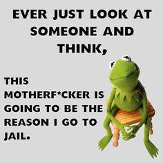 Ever Look At Someone And Think. funny quotes quote crazy jokes lol funny quote funny quotes funny sayings humor kermit Sarcastic Quotes, Funny Quotes, Funny Memes, Hilarious, Sarcastic Work Humor, Sarcasm Meme, Cheeky Quotes, Drunk Humor, Nurse Humor