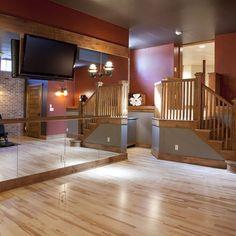 Home Dance Studio Design Ideas, Pictures, Remodel, and Decor Dance Studio Design, Home Dance Studio, Studio Room, Studio 54, Home Gym Design, House Design, Ballet Room, Ballet Barre, Dance Rooms