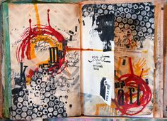 paint with black gesso; use white gesso on bubble wrap; then drop black gesso as dots.