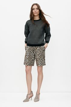 Nanushka  Save up to 70% off the summer collection, which includes pre-fall musts like these cool leopard shorts.