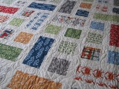 Lap Quilt  Twin Quilt or Throw Going Coastal  READY by bellazahn, $295.00