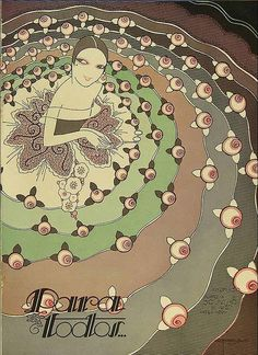 1920s illustration for a magazine cover.