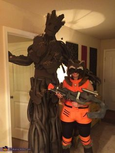Brian: My wife and I decided to dress up as Groot and Rocket from Guardians of the Galaxy. We've always been fans of superhero movies and when this came out we...