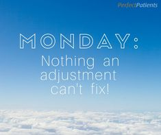 Have a case of the Mondays? It's nothing an adjustment can't fix! #Adjustment #Chiropractic #AdjustToWellness