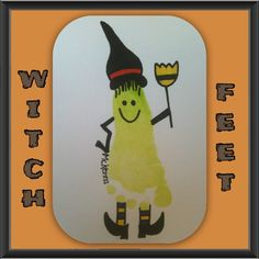 #Witches. #Halloween #Foot print. #Cute.