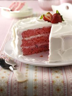 Strawberry Cake Recipe from Taste of Home