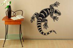 Tribal lézard mural autocollant autocollants vinyle autocollants Reptile…
