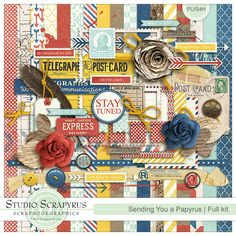Sending You a Papyrus | Kit by Scrapyrus Designs, available at Scrapbokgraphics {For your long distance lovers out there!}