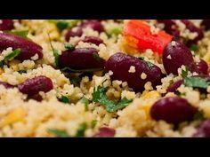 Salată de fasole roșie și cușcuș - YouTube Grains, Rice, Youtube, Food, Essen, Meals, Seeds, Youtubers, Yemek