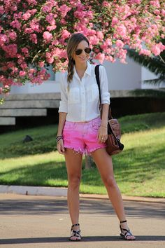 Pink Shorts - Luisa Accorsi