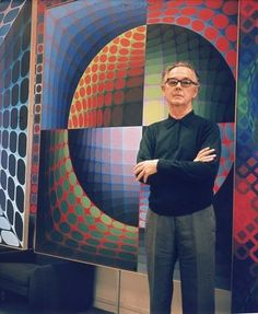 Victor Vasarely (9. April 1906, Pécs – 15. March 1997, Paris) was a Hungarian-French sculptor and paintor whose work is generally seen aligned with Op-art. Vasarely was a groundbreaking artist who transformed the visual medium of art and sculpture. His clever, optical renditions on tradition spaces and three-dimensionality has made his works some of the most stunning and colorful pieces of the modern age.