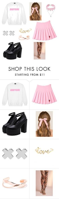 """pastel grunge"" by jessytrash ❤ liked on Polyvore featuring Francesca's, Witchery, LULUS, Tintoretta and Design Lab"