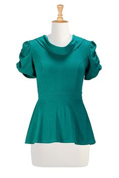 Teal peplum knit top (not 100% sure on colour)
